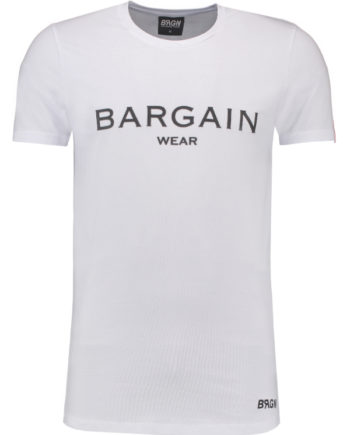 Bargain T-Shirt BGNOSTEE1 White-Black