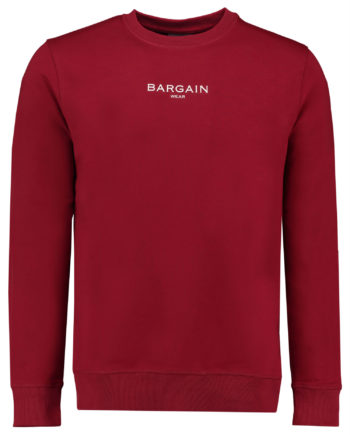 Bargain crewneck BGBACKCN. Bordeaux / wit
