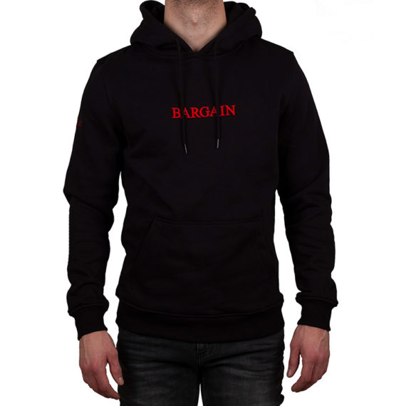 BGBASICHOODIE BLACK / RED