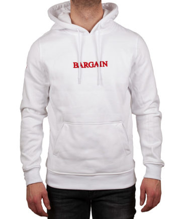 BGBASICHOODIE WHITE / RED